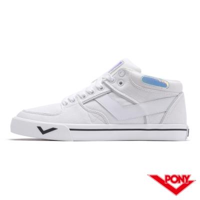 【PONY】ATOP系列滑板鞋-男款-白/雜色