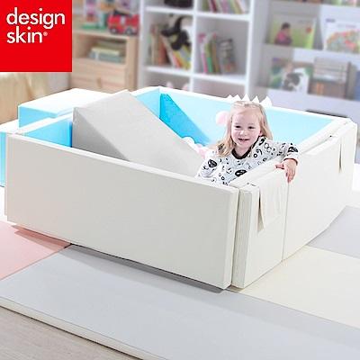 【韓國design skin】兒童遊戲城堡圍欄球池(藍色-超厚款) caring