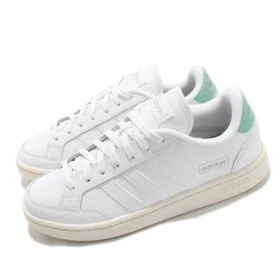 adidas 休閒鞋 Grand Court SE 運動 女鞋 愛迪達 基本款 簡約 舒適 穿搭 白 綠 FY8672