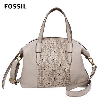 FOSSIL 母親節優惠 Skylar 真皮手提側背兩用包-米灰色 SHB2774788