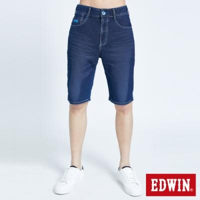 EDWIN JERSEYS 迦績 PK EJ3透氣寬鬆涼感 牛仔短褲-男-石洗綠