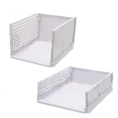 【挪威森林】可折疊多層置物架/折疊抽取式衣櫃/ 高款3入