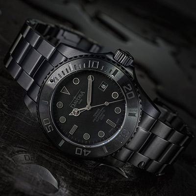 DAVOSA Black Suit 自動排氦氣500M專業潛水限量錶/黑武士~啞光黑