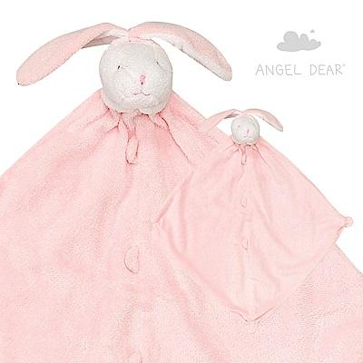 美國 Angel Dear 動物嬰兒安撫巾 (粉紅小兔)