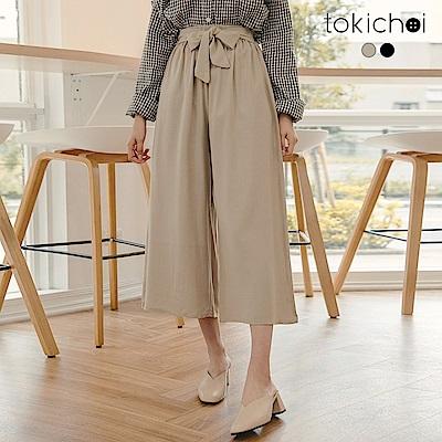 東京著衣 穿了N遍百搭附綁帶八分寬褲-S.M.L(共二色)