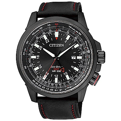 CITIZEN PROMASTER光動能雙時區航空飛行腕錶(BJ7076-00E)45mm