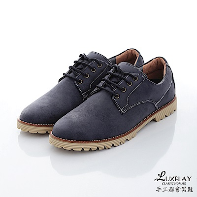 LUXPLAY  男款 日本和風款福樂休閒鞋 WK238藍