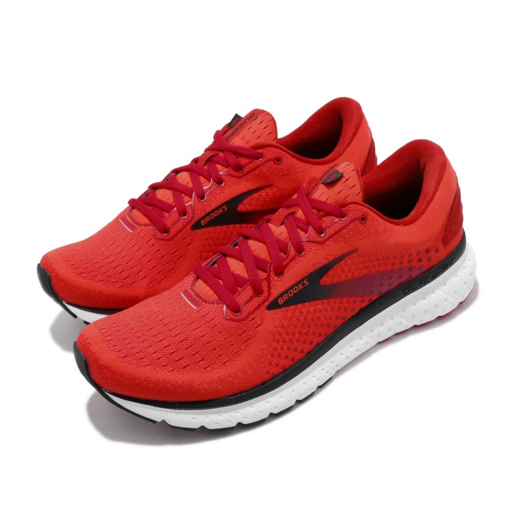 Brooks 慢跑鞋 Glycerin 18 運動 男鞋 路跑 緩震 DNA科技 透氣 健身 紅 黑 1103291D617