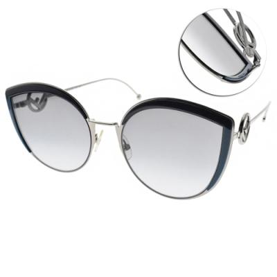 FENDI太陽眼鏡 摩登女伶貓眼款/槍藍-漸層藍 #FF0290S PJPGB