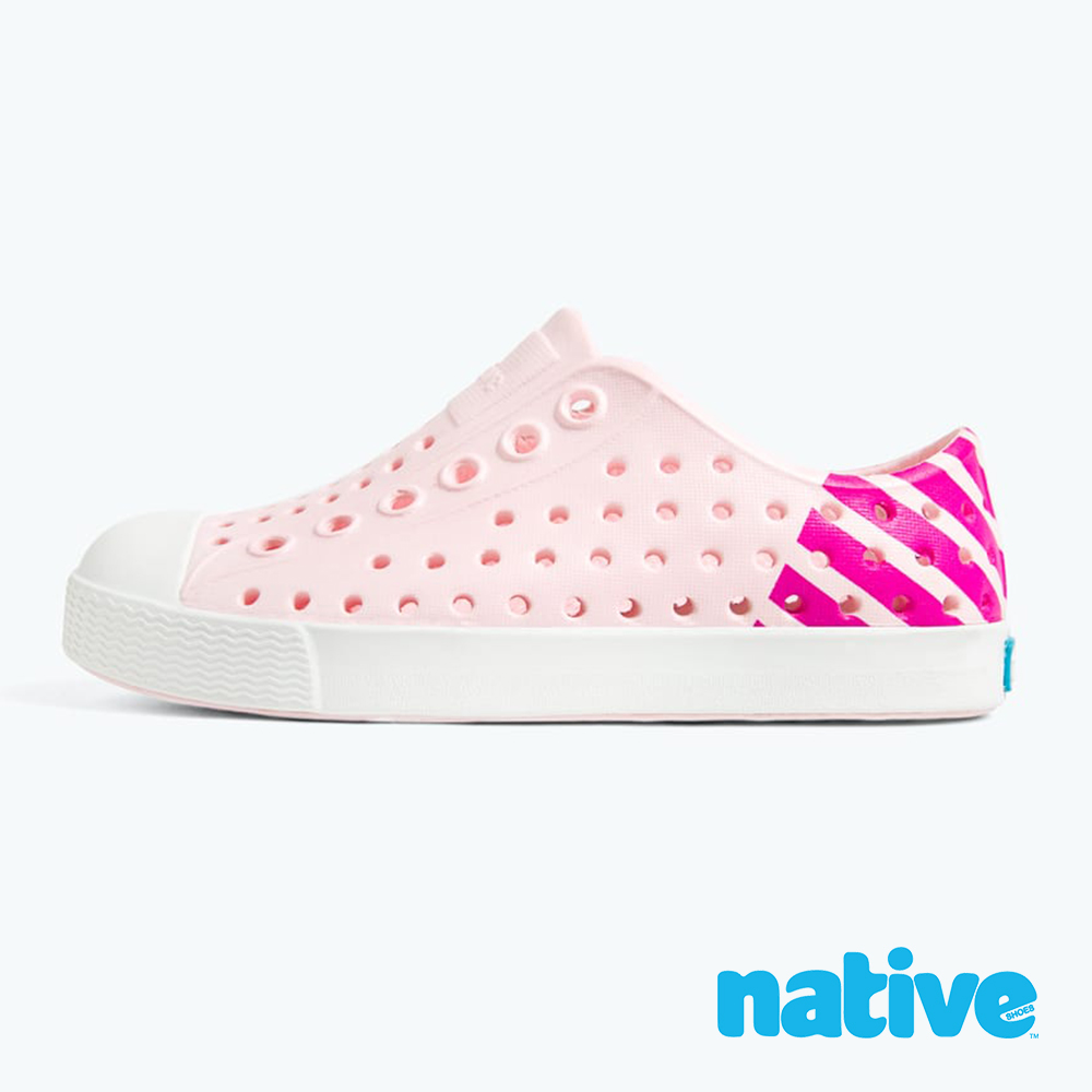 native 小童鞋 JEFFERSON 小奶油頭鞋-櫻花粉x夜光桃