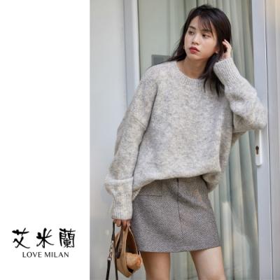 艾米蘭-簡約圓領毛衣