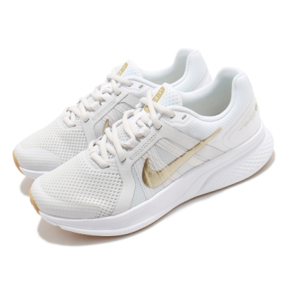 Nike 慢跑鞋 Run Swift 2 運動 女鞋 輕量 透氣 舒適 避震 路跑 健身 白 金 CU3528010