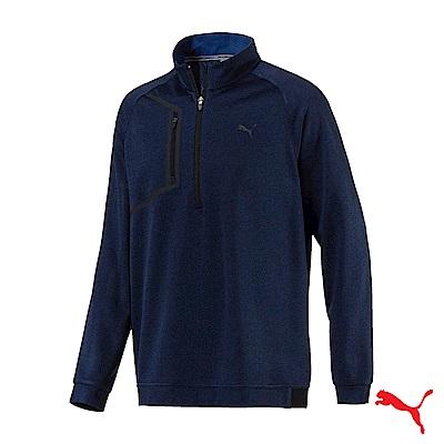 PUMA GOLF 男運動機能保暖立領上衣 藍576121 02