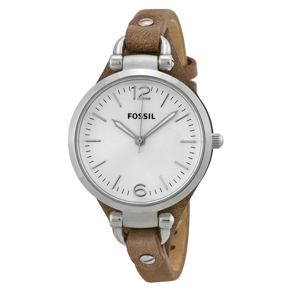 FOSSIL 纖纖小手簡約輕量腕錶(ES3060)-咖啡色/32mm