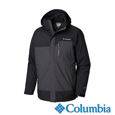 Columbia哥倫比亞 男款-Omni-Tech防水保暖兩件式羽絨外套-深灰