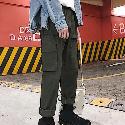 BuyGlasses 口袋寬鬆素色休閒長褲