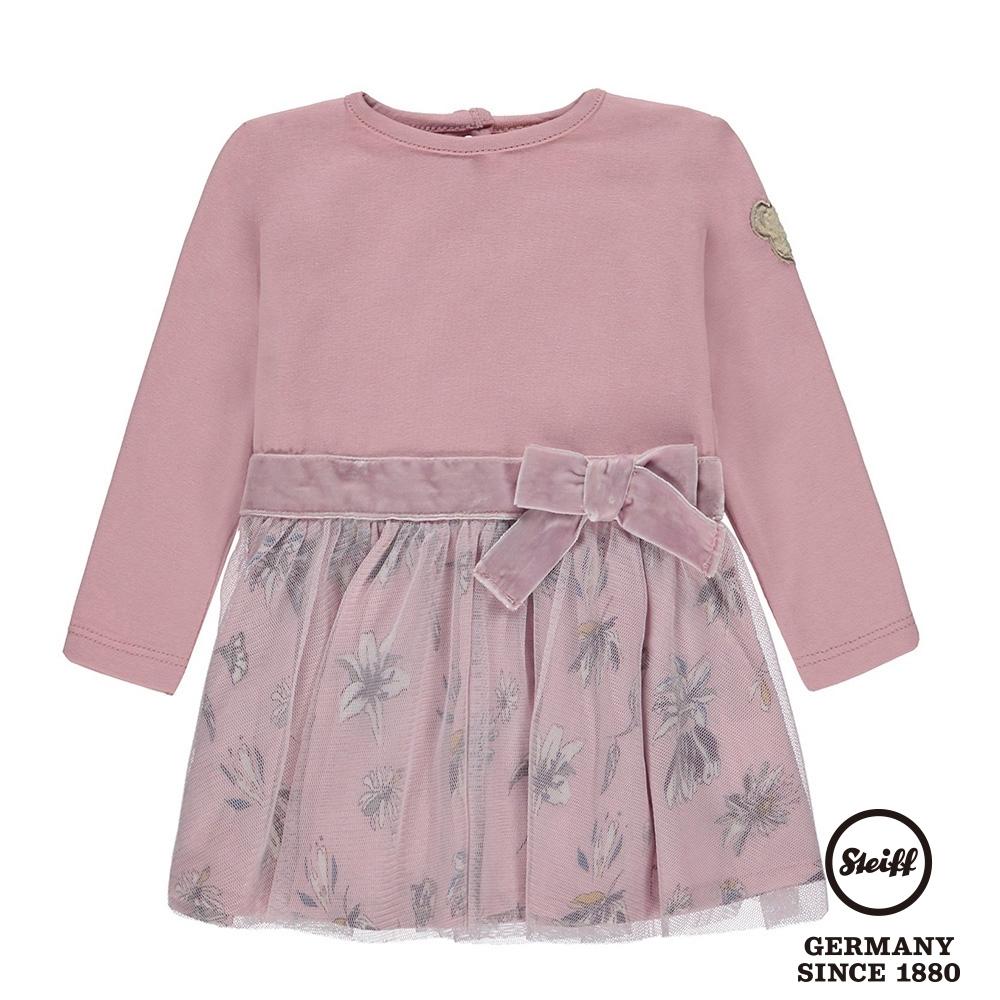 STEIFF德國精品童裝  長袖蝴蝶結花卉連身裙(洋裝)