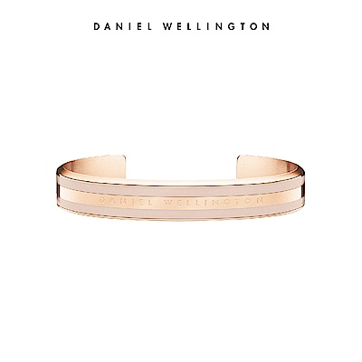 DW 手環 Classic Bracelet 時尚奢華手鐲 玫瑰金x沙漠灰-M