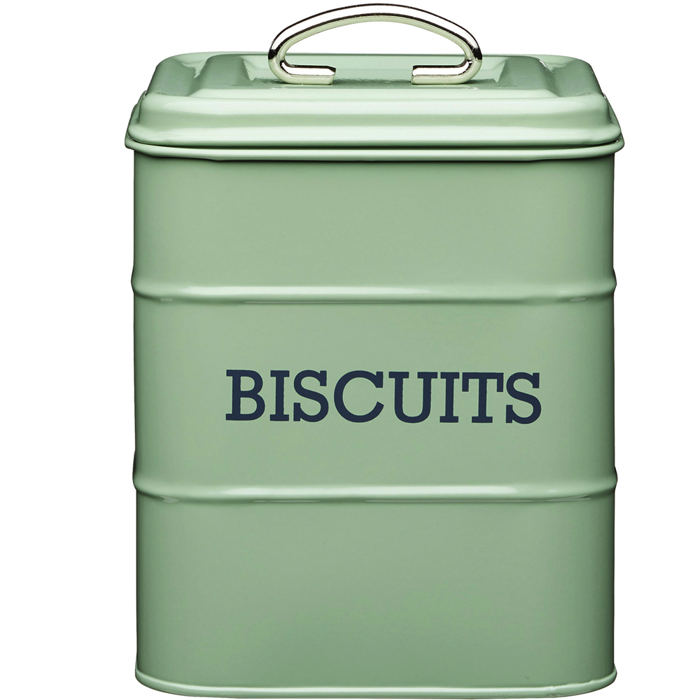 《KitchenCraft》復古餅乾密封罐(綠2800ml)