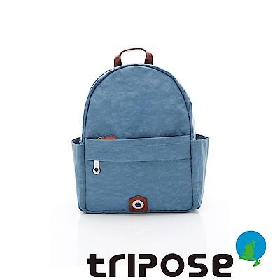 tripose MOVE系列側口收納機能後背包 淺藍