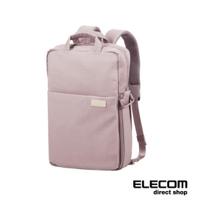 ELECOM 帆布3WAY薄型後背包-L-朦朧紫