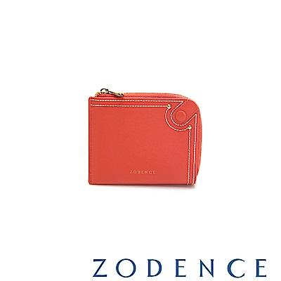 (網路限定)ZODENCE 35周年限定進口牛皮零錢包 橘