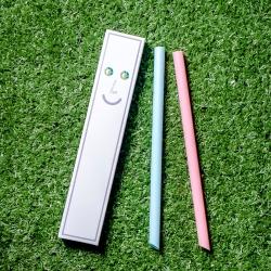 卡卡環保吸管GAGA STRAW 灰盒2入獨享版(粉+藍)