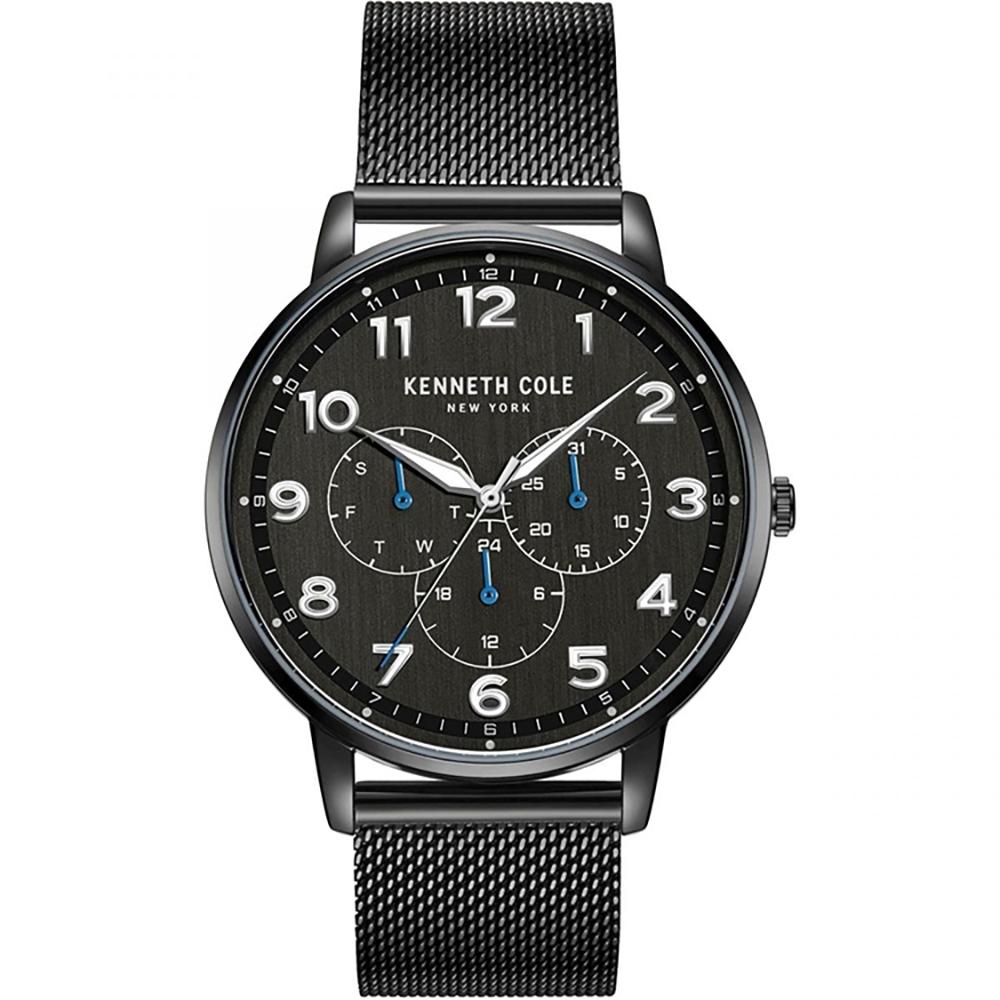 KENNETH COLE KC50801001 大數字刻度 日期 星期 日夜顯示 米蘭錶帶 三眼