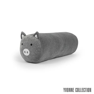 Yvonne Collection 豬豬圓筒長抱枕-暗灰
