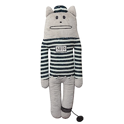 CRAFTHOLIC 宇宙人 腳銬囚犯貓大抱枕