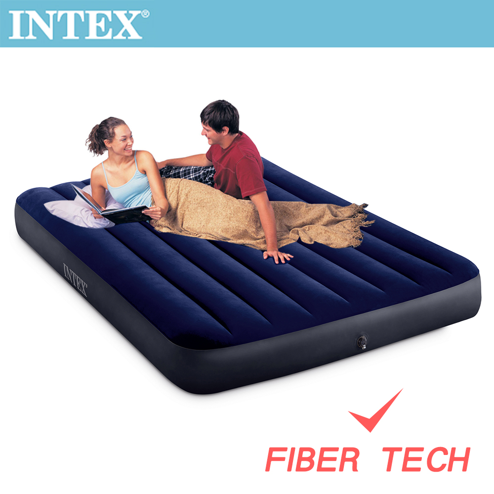 INTEX 經典雙人(新款FIBER TECH)充氣床墊-寬137cm(64758)