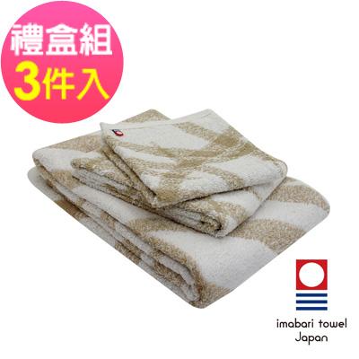 日本今治  純天然有機棉無染色方毛浴巾禮盒組-絲帶-秋香綠