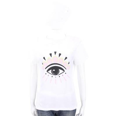 KENZO Eye 大眼睛經典圖印白色棉質T恤