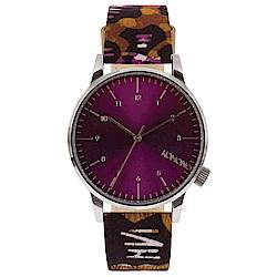 KOMONO Winston 聯名腕錶-紫x非洲印花/41mm