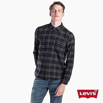 Levis 男款 襯衫 黑灰格紋 胸前雙口袋
