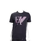 Emporio Armani EA 老鷹標誌黑色短袖T恤(男款)