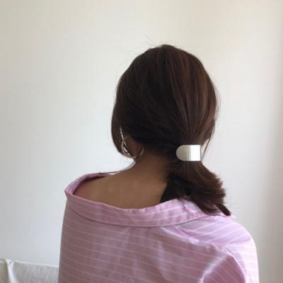 HERA 赫拉 金屬拉絲方形圓弧彈簧夾髮飾-2色