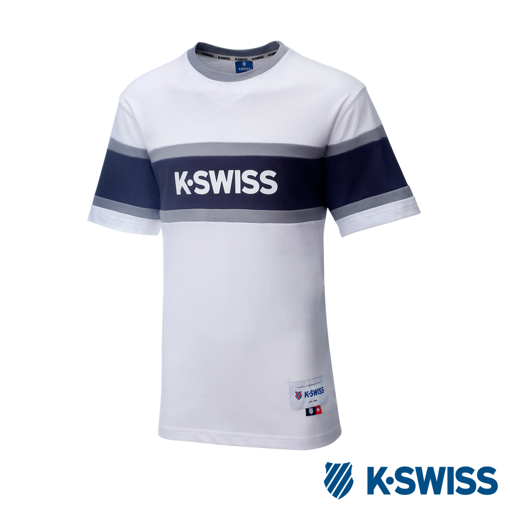 K-SWISS Ace Graphic Tee印花短袖T恤-男-白