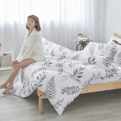 BUHO 天然嚴選純棉雙人舖棉兩用被套-6x7尺(清羽飛揚)