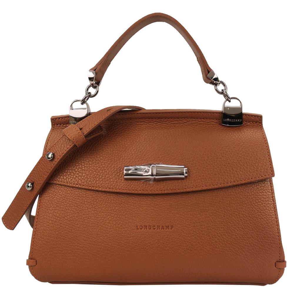 Longchamp MADELEINE 系列竹節斜背包-焦糖 @ Y!購物