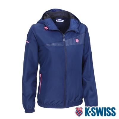 K-SWISS Ct Solid Jacket 2風衣外套-女-藍