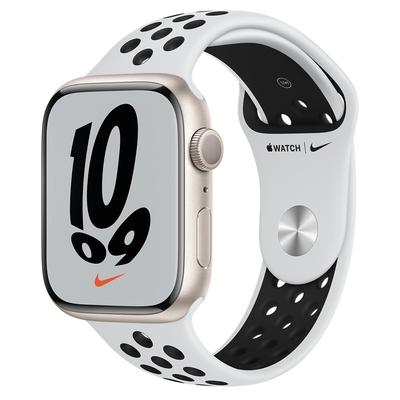 Apple Watch Nike Series 7 (GPS) 45mm 星光鋁金屬錶殼+Pure Platinum黑色錶帶(MKNA3TA/A)