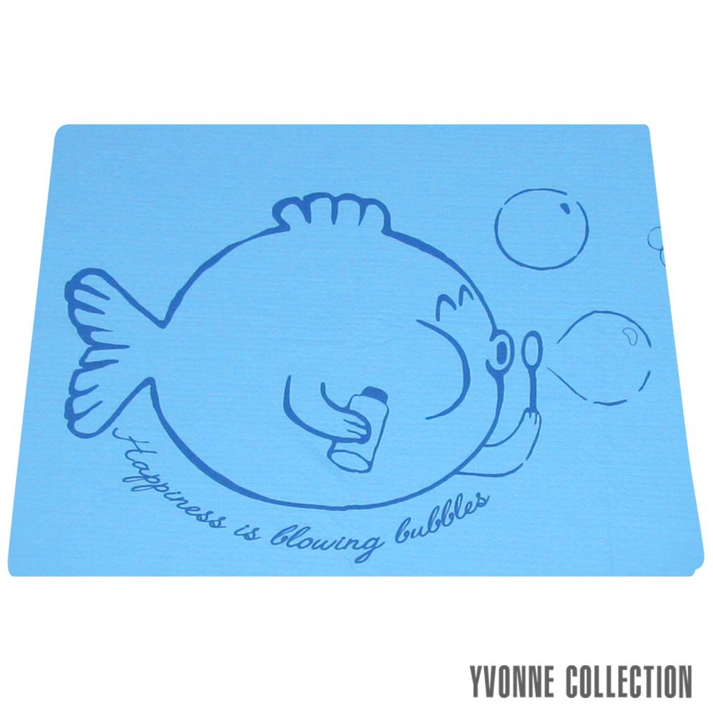 YVONNE COLLECTION 泡泡魚雙人薄紗被(6x7呎)-藍 @ Y!購物