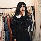 【AIRKOREA正韓空運】櫻桃印花羊毛針織衫