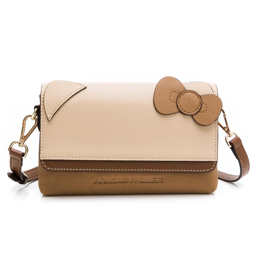 Kitty聯名 - Arnold Palmer - 斜背包可替換袋蓋 Caramel系列 - 咖啡色