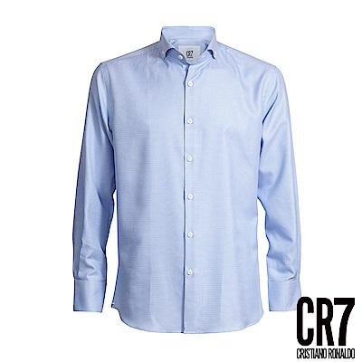 CR7-Slim Fit 藍細格紋襯衫(8655-7200-30)