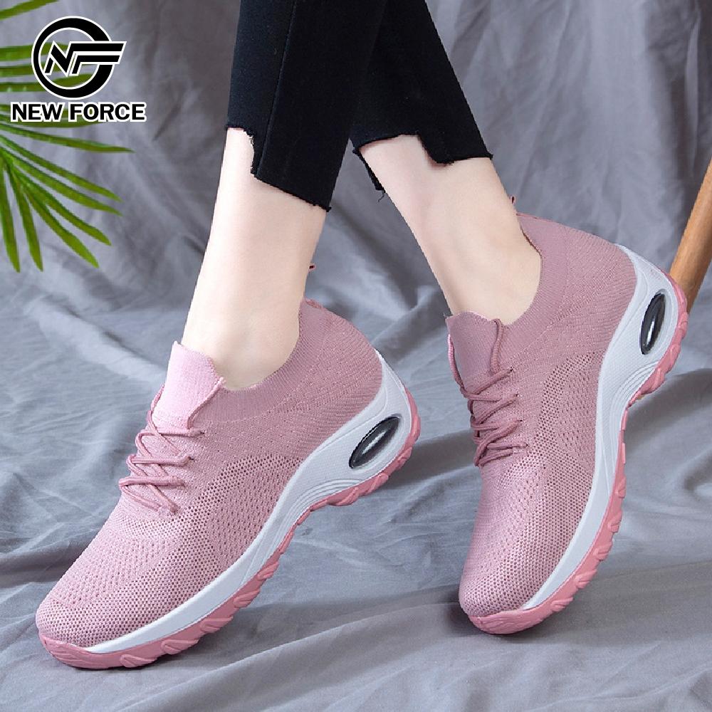 NEW FORCE 增高美型假綁帶懶人鞋-3色可選 product image 1