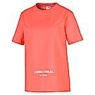 PUMA-女性流行系列Pantone短袖T恤-橘珊瑚-歐規