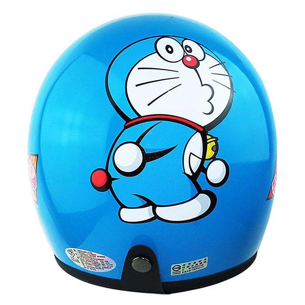 哆啦A夢Doraemon小叮噹4/3罩安全帽 藍 ( 57~60cm)