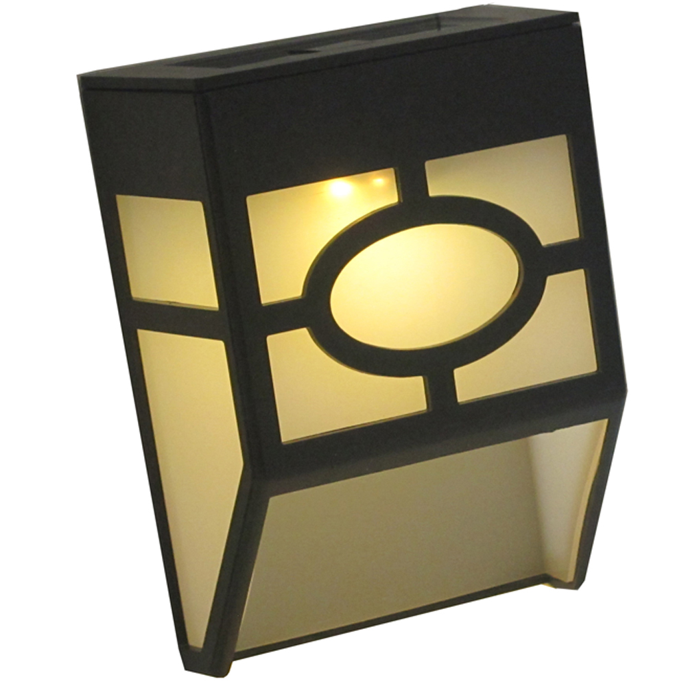月陽歐式太陽能自動光控2LED璧燈台階燈庭園燈(EU118)